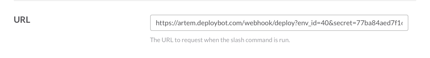 URL to request when the slash command is run