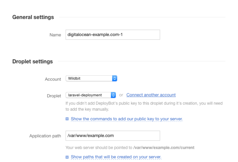 Change Droplet settings before you deploy Laravel to Digital Ocean