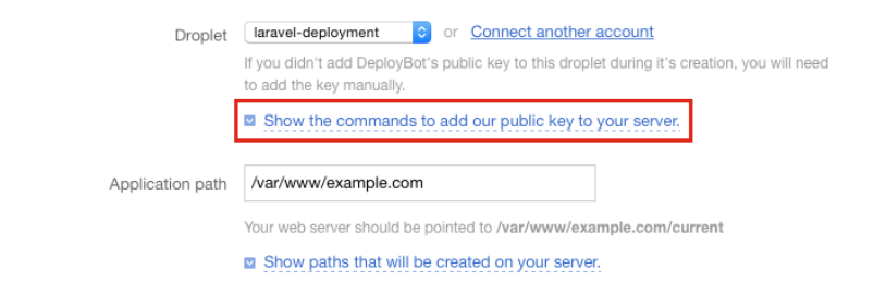 Add deploybot public key to server image
