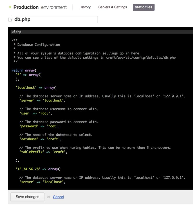 Configuration file editor