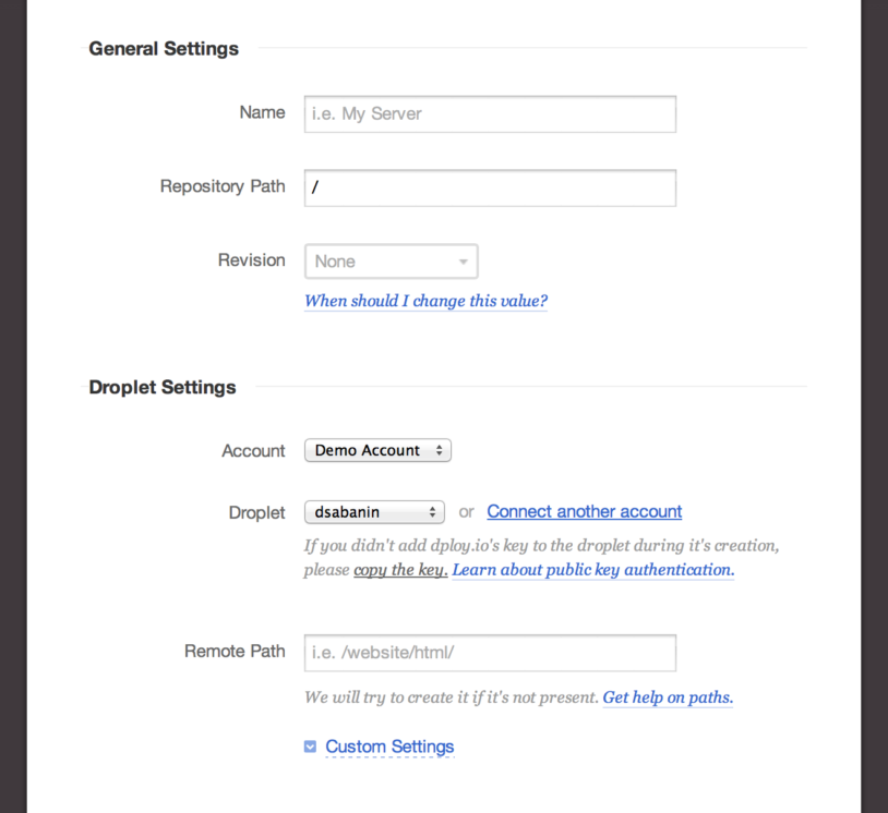 Setting up DigitalOcean droplet