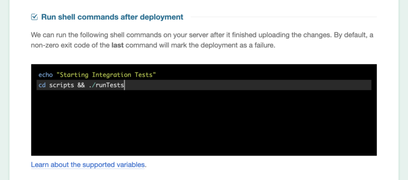 Enter a post-deployment command.