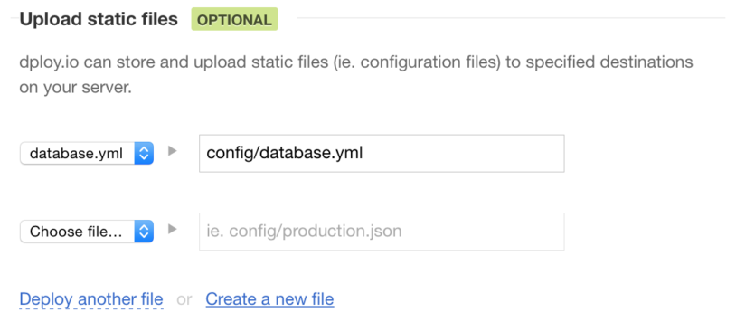 Adding a configuration file