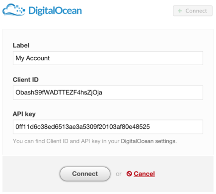 Integration with DigitalOcean