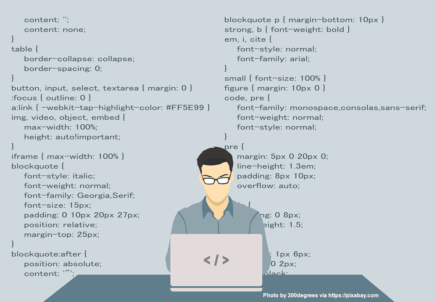 Someone coding, maybe using DeployBot ;)