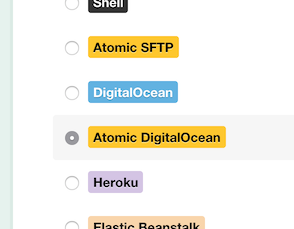 Atomic DigitalOcean